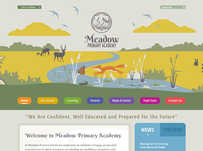 The Meadow Primary Academy Website Design