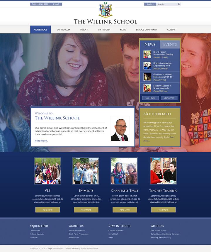 The Willink School Website Design